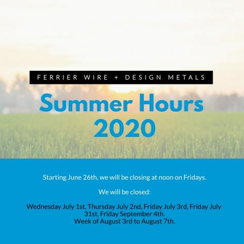 Ferrier Wire: Summer Hours 2020