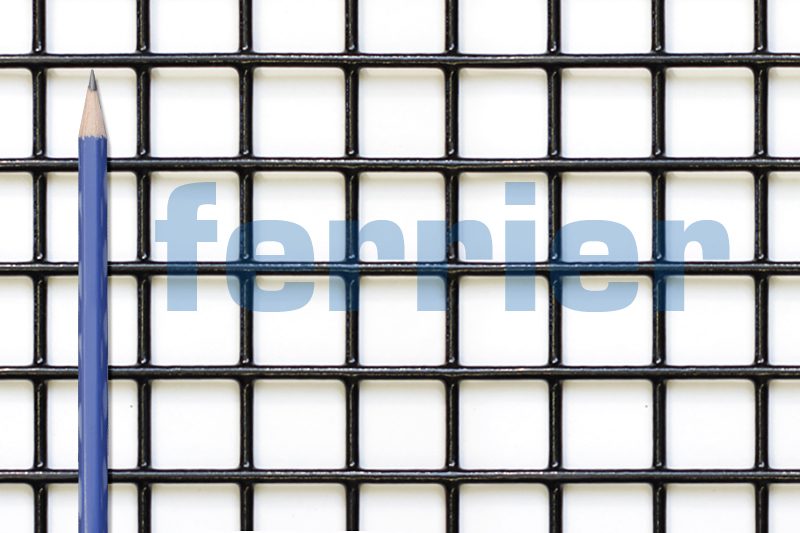 "Ferrier black PVC 1"" x 1"" x 12.5 ga weldmesh"