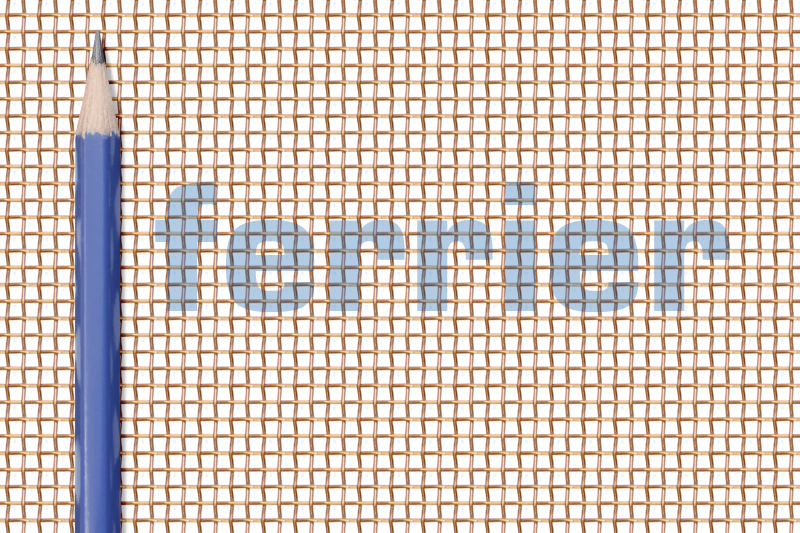 Ferrier copper 10 x 10 mesh x .025 weavemesh